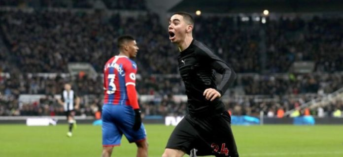Newcastle's Miguel Almiron scores his first goal for Team