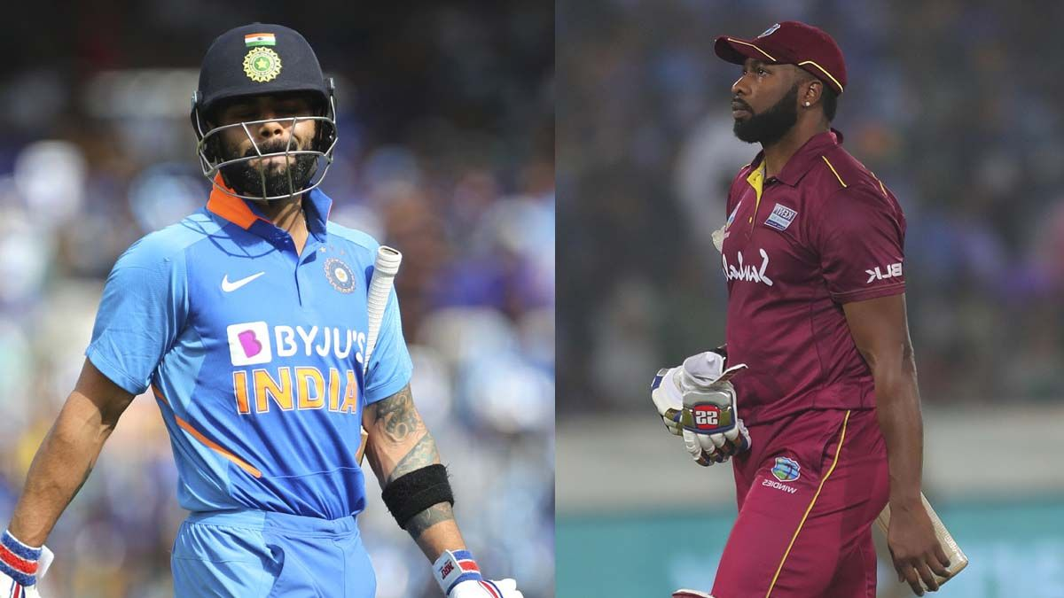 The two skippers out for Golden Duck in second West Indies v India ODI