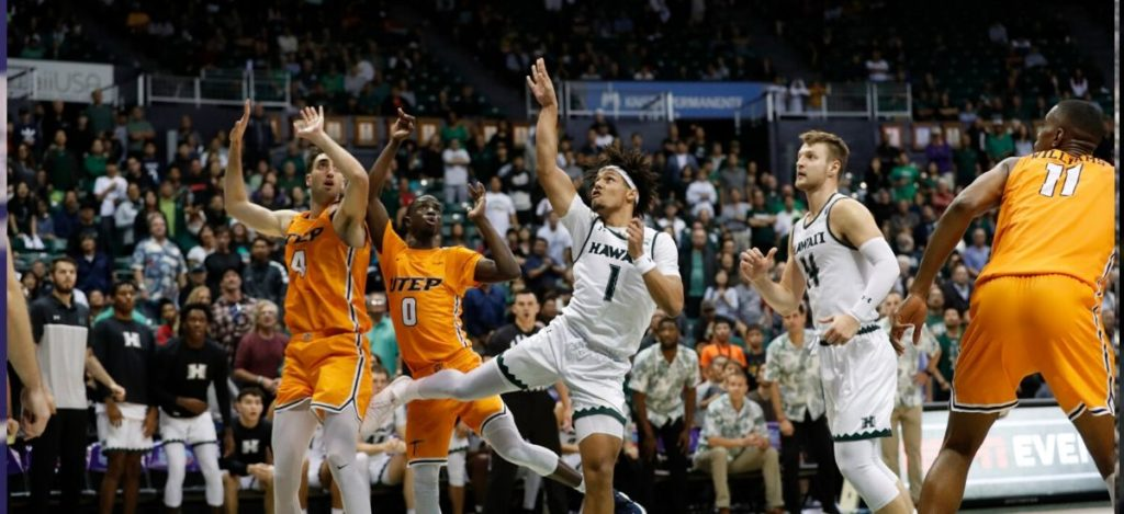 UTEP men's basket-ball big win at Hawaii