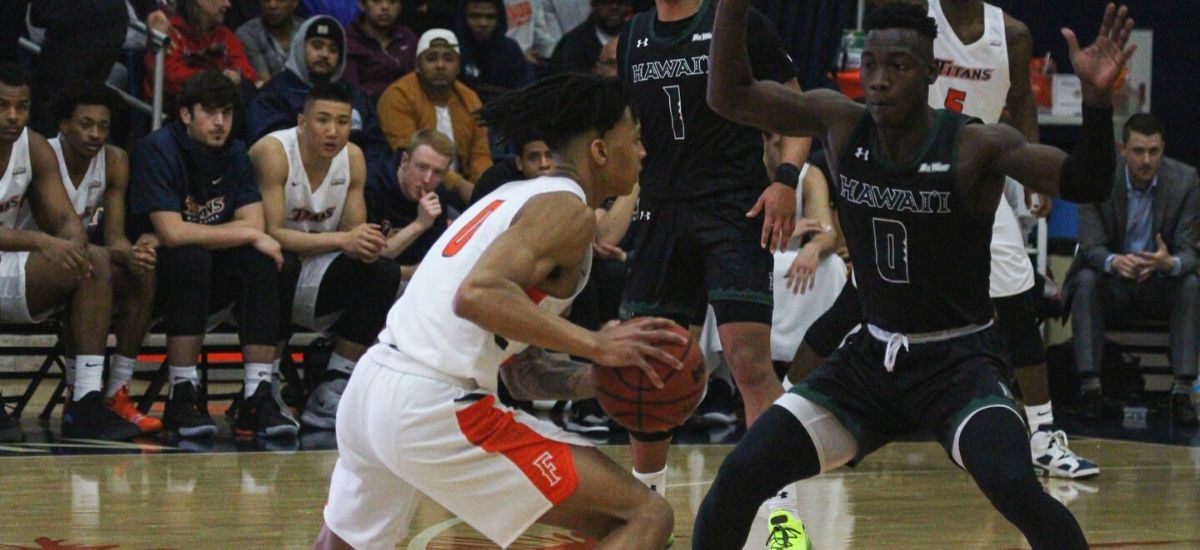 Titan Men Won Its First Big West Conference Game Beating Long Beach State, 66-62