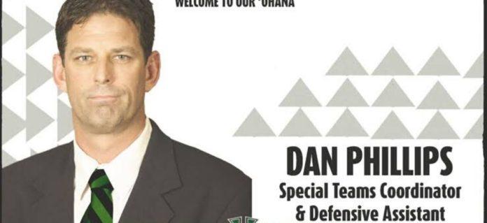 Dan Phillips is the new season coach for the Hawaiian football team
