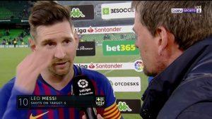 Lionel Messi's response